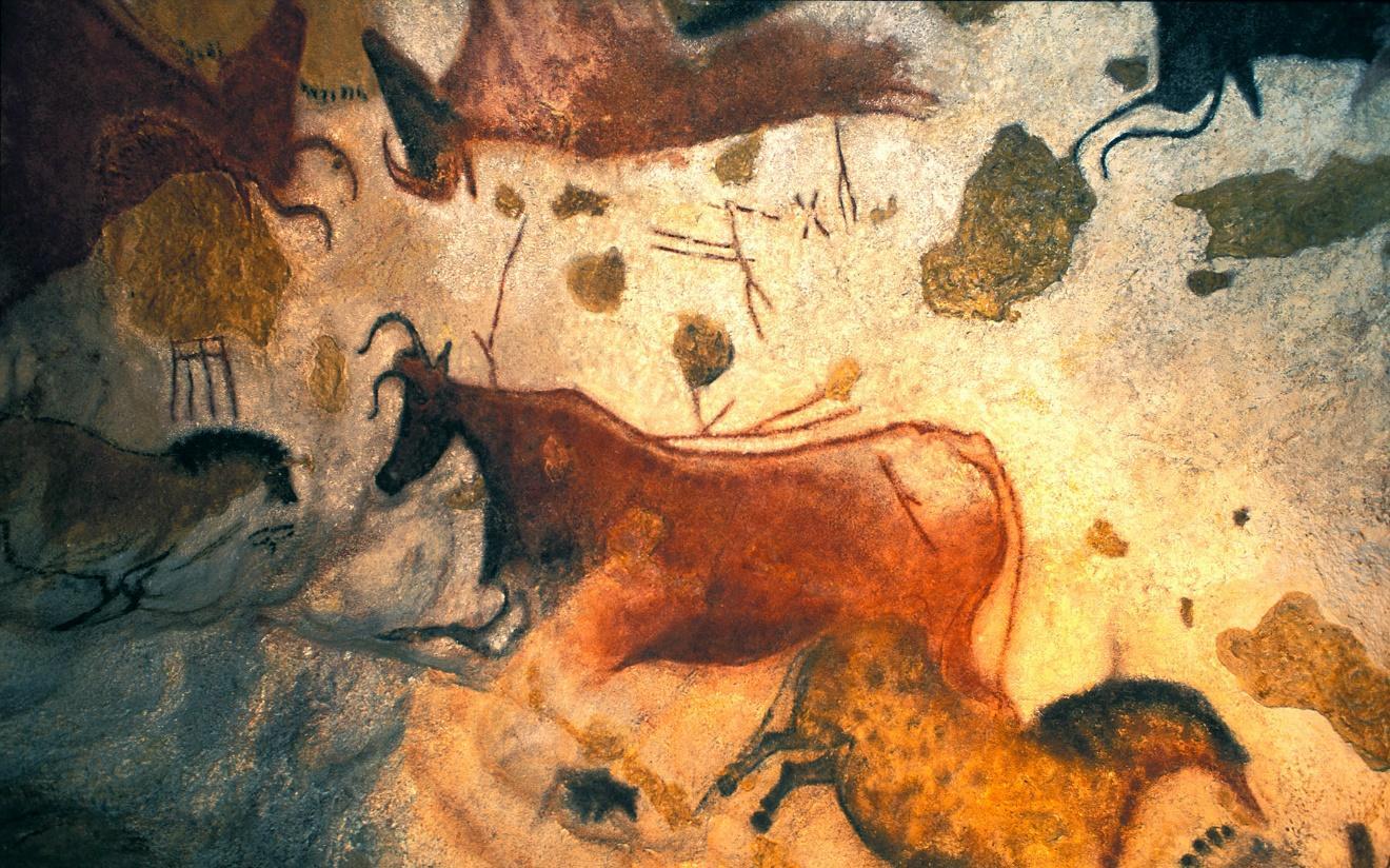 التصميم على جدران الكهوف في العصر الحجري