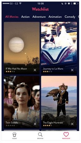 Split content to categories