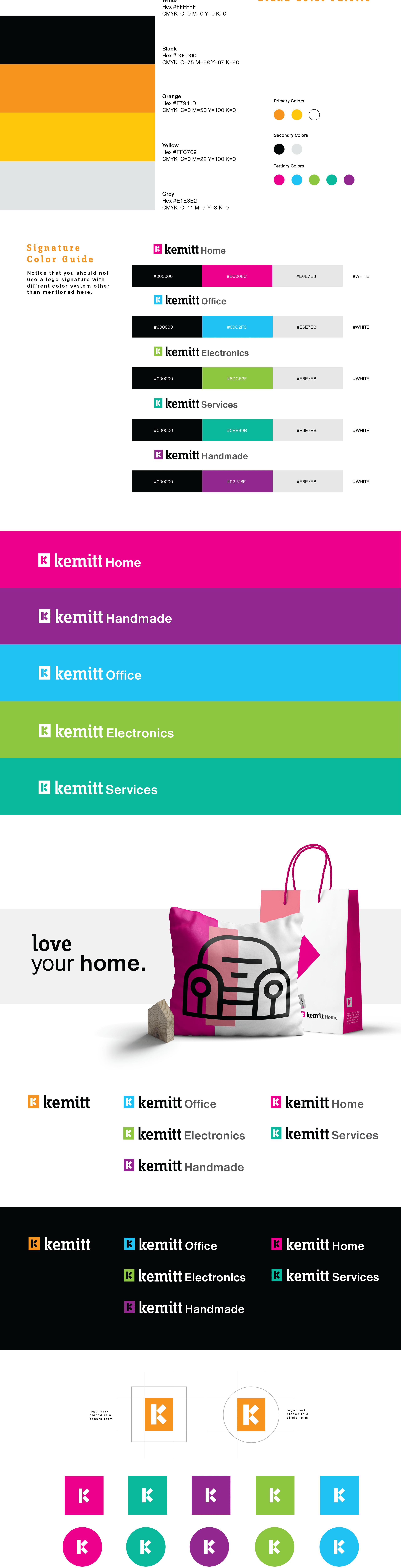الألوان المستخدمة في كيميت