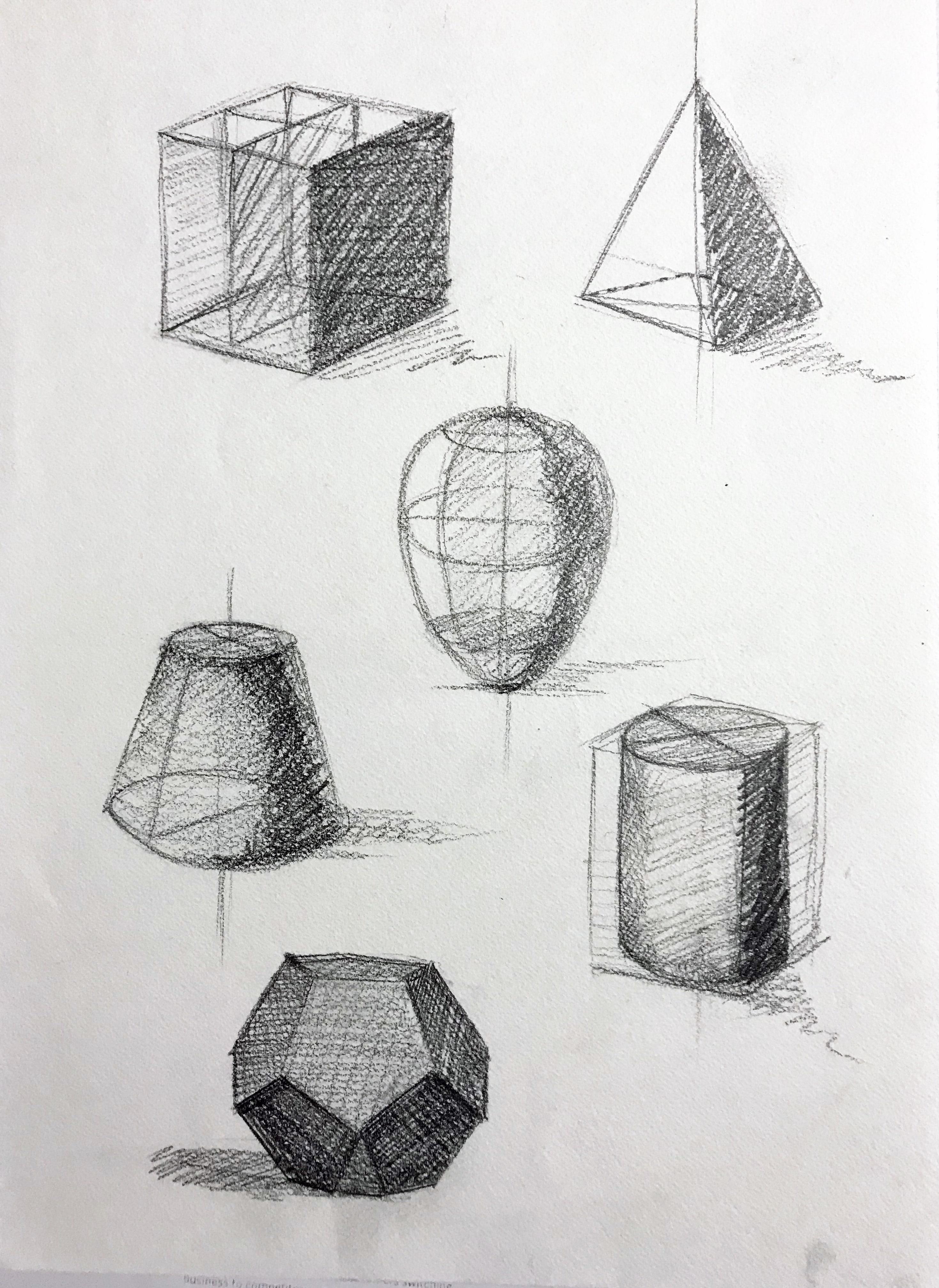 رسم الأشكال الهندسية ثلاثية الأبعاد بالمسطرة Youtube