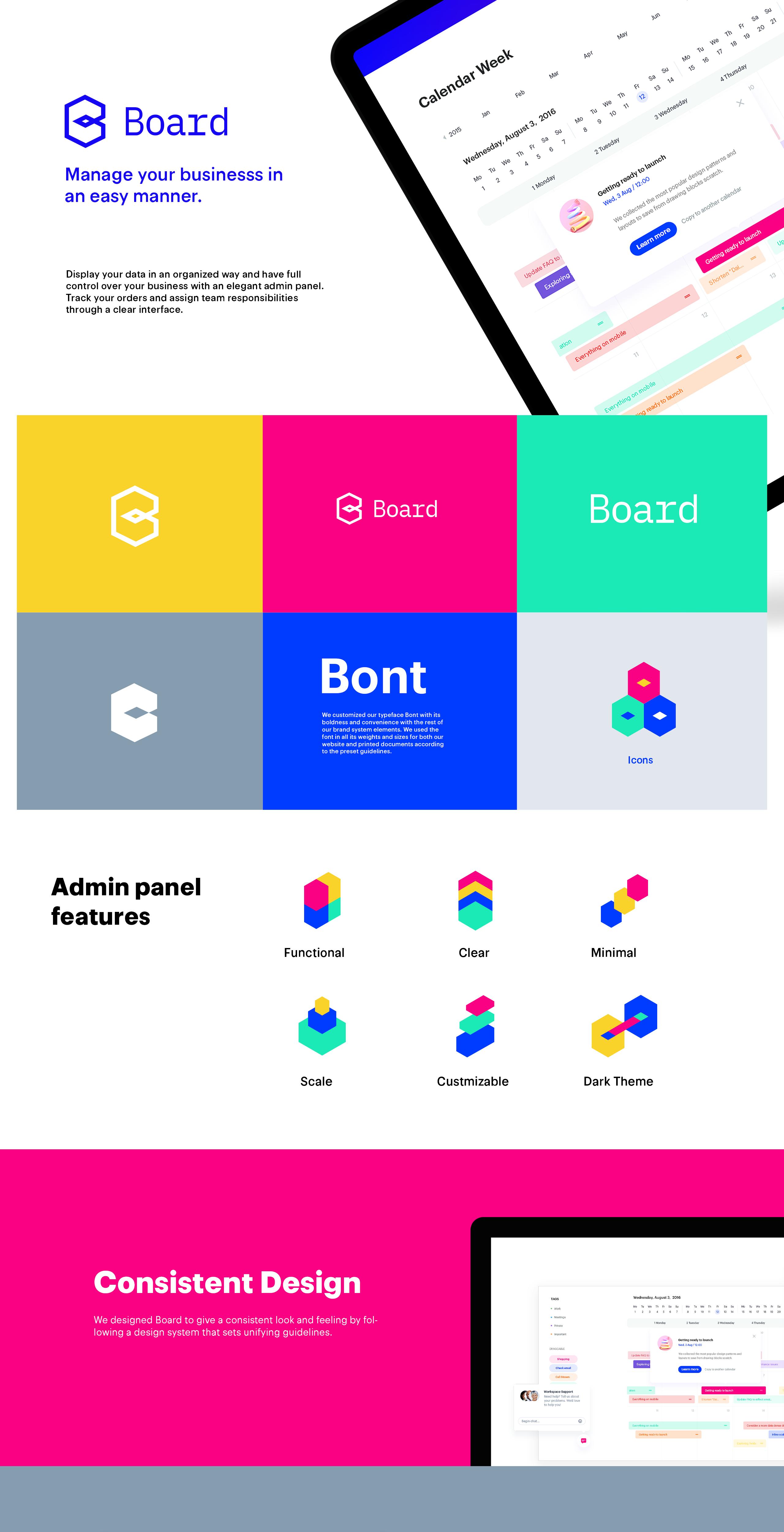 Board admin panel