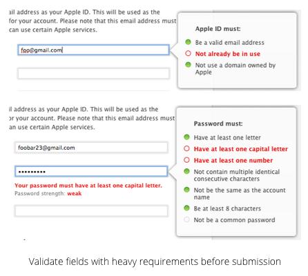 Field Requirement Validation