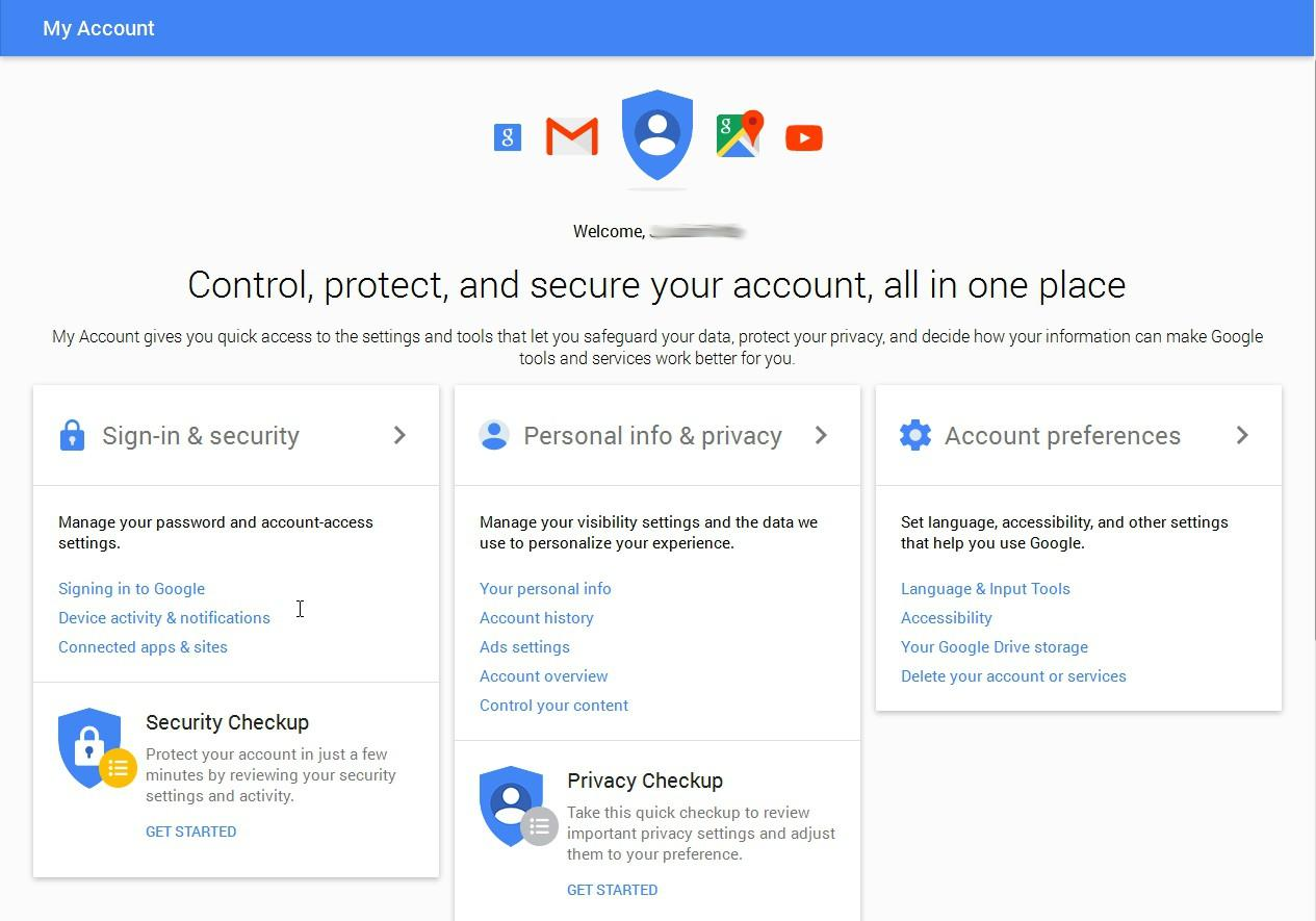 Privacy and account settings