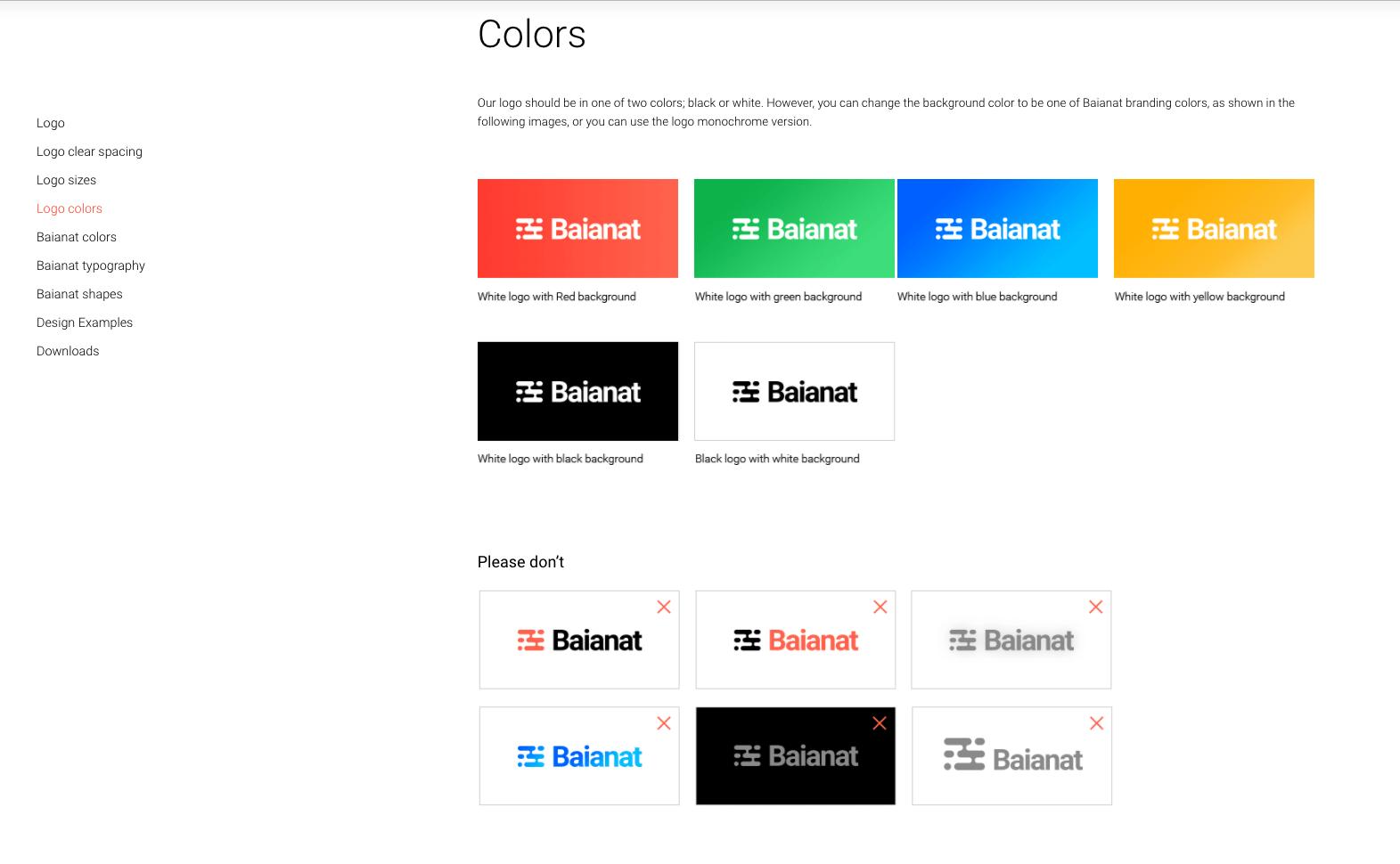 Baianat colors